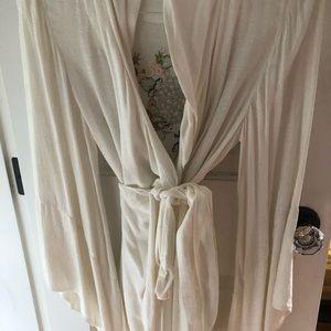 Anthropologie kimono wrap robe.